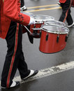 Drummer in a Marching Band Stock Images