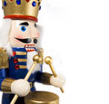 Drummer nutcracker Royalty Free Stock Photography