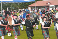 Drummers in the band at Nairn. Royalty Free Stock Image