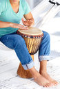 Drumming to life's rhythm and beat Stock Photography