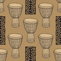 Drums. African drums. Percussion. Royalty Free Stock Photo