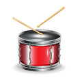Drums with sticks Royalty Free Stock Photos