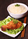 Drumstick rice delicious roasted on table Royalty Free Stock Photo