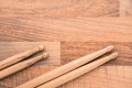 Drumsticks music percussion rhythm wood Royalty Free Stock Images