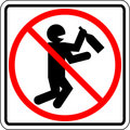 Drunk and drinking people prohibited vector sign Royalty Free Stock Photo