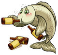 A drunk fish Royalty Free Stock Photo