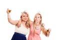 Drunk girls celebrate Royalty Free Stock Photo