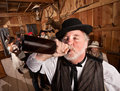Drunken Man in Bar Royalty Free Stock Photo