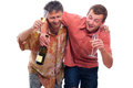 Drunken men Stock Images