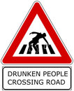 Drunken people Royalty Free Stock Photography