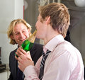 Drunks drinking champagne Stock Photo