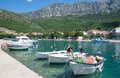 Drvenik makarska riviera dalmatia croatia the village of at the in croatian adriatic sea Royalty Free Stock Photo