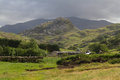 Drws y Coed Glacial Valley in Snowdonia. Royalty Free Stock Photo