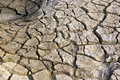 Dry and barren land cracked due to drought Royalty Free Stock Photography