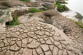 Dry and barren land cracked due to drought Royalty Free Stock Photo