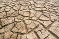 Dry and barren land cracked due to drought Stock Images