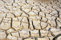 Dry and barren land cracked due to drought Stock Image