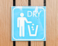 Dry bin post approve to save world Stock Image