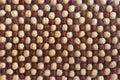 Dry cereal breakfast. Background of chocolate-milk balls of breakfast