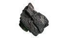 Dry coal to ignite  fire on a white background Royalty Free Stock Photo