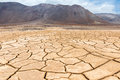 Dry cracked earth, Atacama in Chile Royalty Free Stock Photo