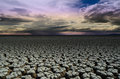 Dry cracked earth drought land dry and cracked soil in arid seas season Royalty Free Stock Photos