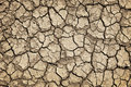 Dry cracked ground during drought Stock Photo