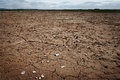Dry and cracked ground land with Stock Image