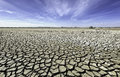 Dry cracked plains of outback australia summer can be relentless in and rivers and lakes up fast in the scorching heat resulting Royalty Free Stock Image