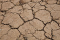 Dry cracked soil close up view of Royalty Free Stock Image