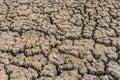 Dry cracked soil of levee of salt evaporation pond Royalty Free Stock Photo