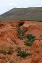 Dry creeks and river beds near La Oliva on Fuerteventura Royalty Free Stock Photo