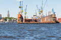 Dry Dock in the harbor of Hamburg Royalty Free Stock Photo