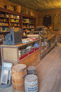 Dry goods or general store this rustic and western town sold everything from groceries to ammunition including clothing boot Stock Image