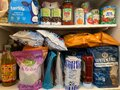 Dry Goods Stored in Home Pantry Royalty Free Stock Photo