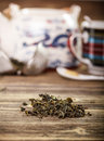 Dry green tea Royalty Free Stock Photos