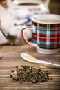 Dry green tea Royalty Free Stock Photo