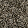 Dry green tea leaves texture background , square