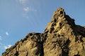 Dry hardened lava rocks landscape of a dormant volcano Stock Photos