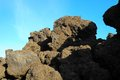 Dry hardened lava rocks landscape of a dormant volcano Stock Image