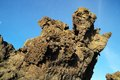 Dry hardened lava rocks landscape of a dormant volcano Stock Photography