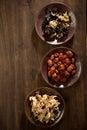 Dry  herb Chinese jujube ginger mushroom Royalty Free Stock Photo