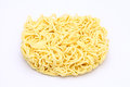 Dry instant noodle on white background Royalty Free Stock Images
