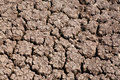 Dry land staying without precipitation a long time in india Stock Image