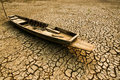 Dry Land Texture With Boat