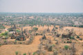 Dry landscape of Bagan. Royalty Free Stock Photo
