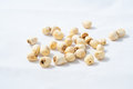 Dry lotus seed several dried on white background Royalty Free Stock Photography