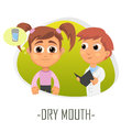 Dry mouth medical concept. Vector illustration.