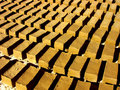 Dry mud bricks Stock Photo