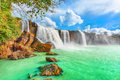 Dry Nur waterfall Royalty Free Stock Photo